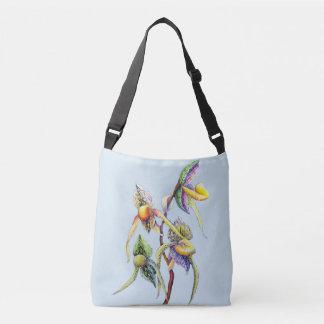 Peinture d'orchidées bleues sac ajustable