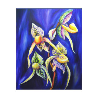 Peinture d'orchidées bleues toiles