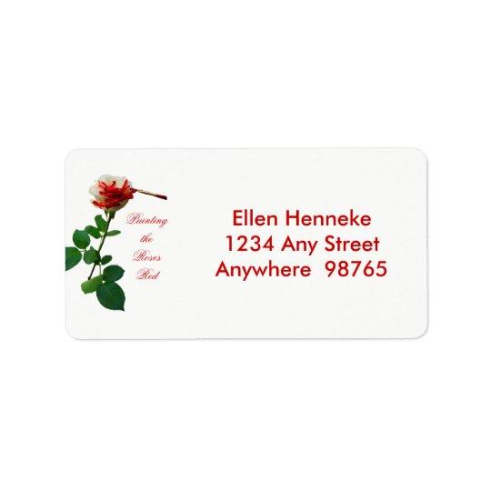Peinture du rouge 4 de roses étiquette d'adresse