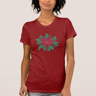 Peinture d'une pièce en t de Noël de fleur de poin T-shirts