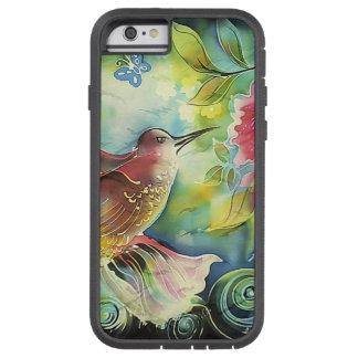 Peinture en soie d'art de colibri coloré coque iPhone 6 tough xtreme