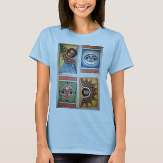 Peinture éthiopienne d'église - T-shirt de bleus