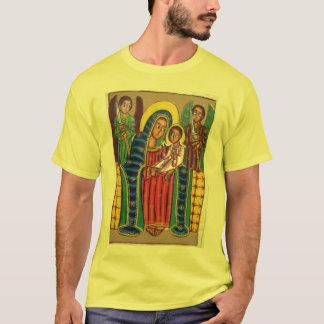 Peinture éthiopienne d'église - T-shirt noir de