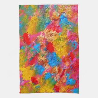 Peinture fleurissante abstraite de pré serviette pour les mains