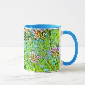 Peinture florale de Monet : Fleurs d'Agapanthus Mug
