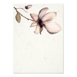 Peinture gentille de fleur carton d'invitation  12,7 cm x 17,78 cm