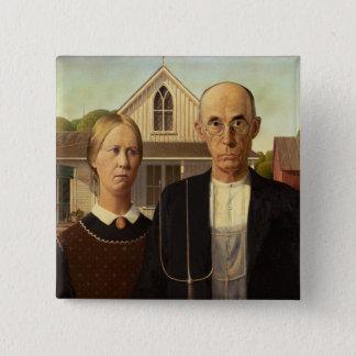 Peinture gothique américaine de beaux-arts de badges