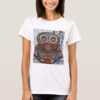 Peinture graphique magique de hibou t-shirt