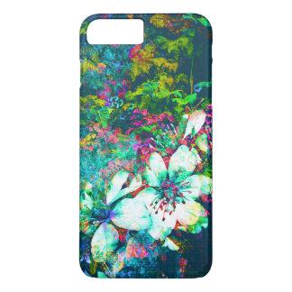 Peinture grunge florale botanique de feuille et de coque iPhone 7 plus
