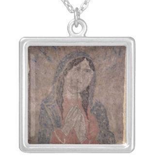 Peinture indienne de peau de pueblo de Madonna, Pendentif Carré