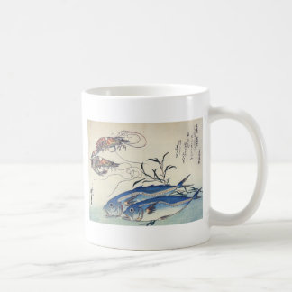 Peinture japonaise de vie marine circa 1800's mug