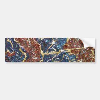 Peinture métallique de continents autocollant de voiture
