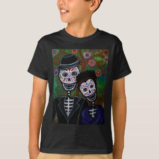Peinture mexicaine d'amants t-shirt