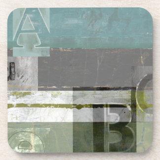 Peinture moderne avec les lettres assorties sous-bock