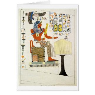 Peinture murale des tombes des rois de Thebes, Carte De Vœux