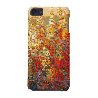 Peinture murale lumineuse de jardin des fleurs coque iPod touch 5G