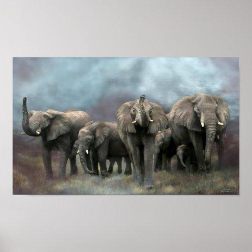 Peinture murale sauvage d 39 art de famille affiches zazzle - Protection peinture murale ...