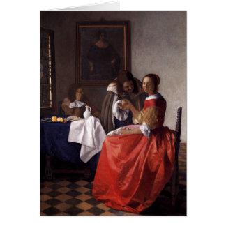 Peinture néerlandaise de Vermeer d artiste Cartes De Vœux