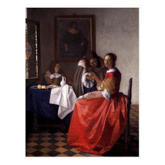 Peinture néerlandaise de Vermeer d'artiste Carte Postale