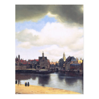 Peinture néerlandaise de Vermeer d'artiste Cartes Postales