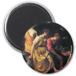 Peinture néerlandaise de Vermeer d'artiste Magnets Pour Réfrigérateur