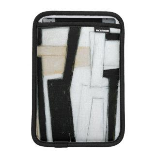 Peinture noire et blanche abstraite housses pour iPad mini