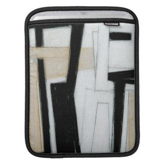 Peinture noire et blanche abstraite poches iPad