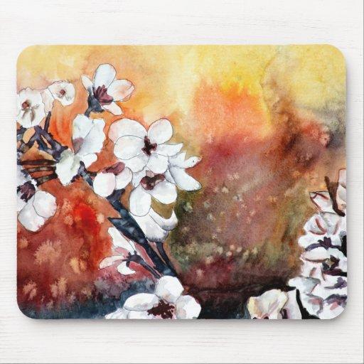 Peinture Orientale Asiatique D 39 Art De Fleur Abstra Tapis De Souris Zazzle