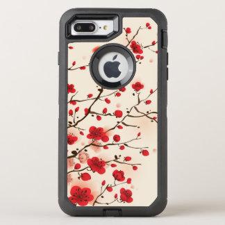 Peinture orientale de style, fleur de prune au coque otterbox defender pour iPhone 7 plus
