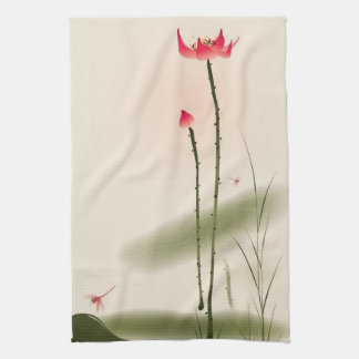 Peinture orientale de style, Lotus grand Serviettes Pour Les Mains