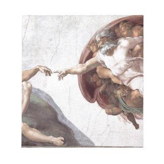Peinture originale de Michaël Angelo dans la Blocs Notes