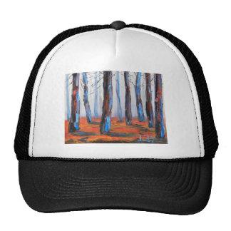 Peinture originale de séquoia, arbres de la casquette de camionneur