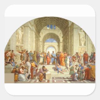 """Peinture originale """"l'école d'Athènes"""" par Sticker Carré"""