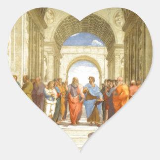 """Peinture originale """"l'école d'Athènes"""" par Sticker Cœur"""