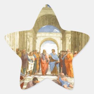 """Peinture originale """"l'école d'Athènes"""" par Sticker Étoile"""