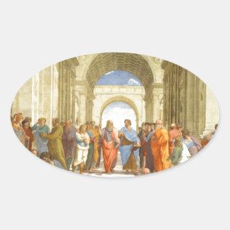 """Peinture originale """"l'école d'Athènes"""" par Sticker Ovale"""