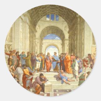"""Peinture originale """"l'école d'Athènes"""" par Sticker Rond"""