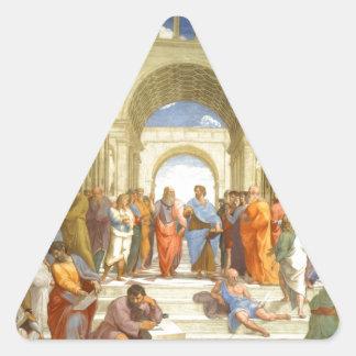 """Peinture originale """"l'école d'Athènes"""" par Sticker Triangulaire"""
