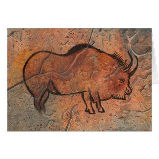 Peinture préhistorique carte de vœux