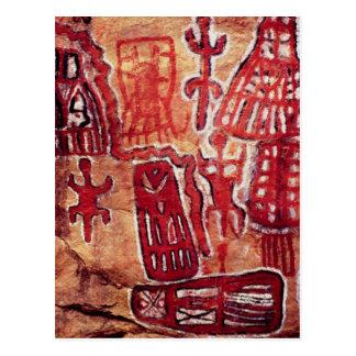 Peinture préhistorique de roche cartes postales