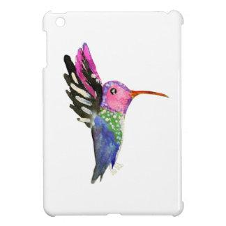 Peinture puérile d'aquarelle de colibri coque pour iPad mini