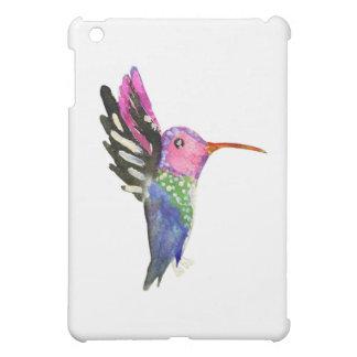 Peinture puérile d'aquarelle de colibri coques iPad mini