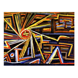 Peinture, rayonnement et rotation de Klee Cartes Postales
