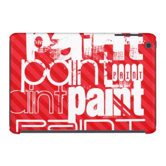 Peinture ; Rayures de rouge d'écarlate Coques iPad Mini