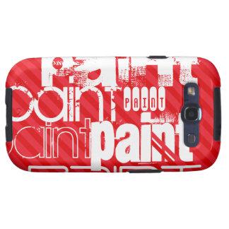 Peinture ; Rayures de rouge d'écarlate Coque Galaxy S3
