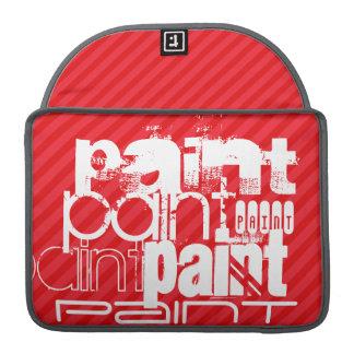 Peinture ; Rayures de rouge d'écarlate Poches Pour Macbook