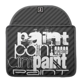 Peinture ; Rayures noires et gris-foncé Housses MacBook Pro