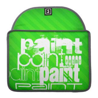 Peinture ; Rayures vertes au néon Poches Pour Macbook Pro