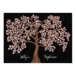 Peinture rose d'arbre de fleurs de cerisier de bristol personnalisé