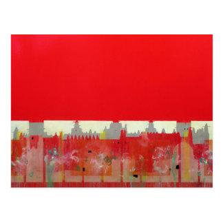 Peinture rouge carte postale